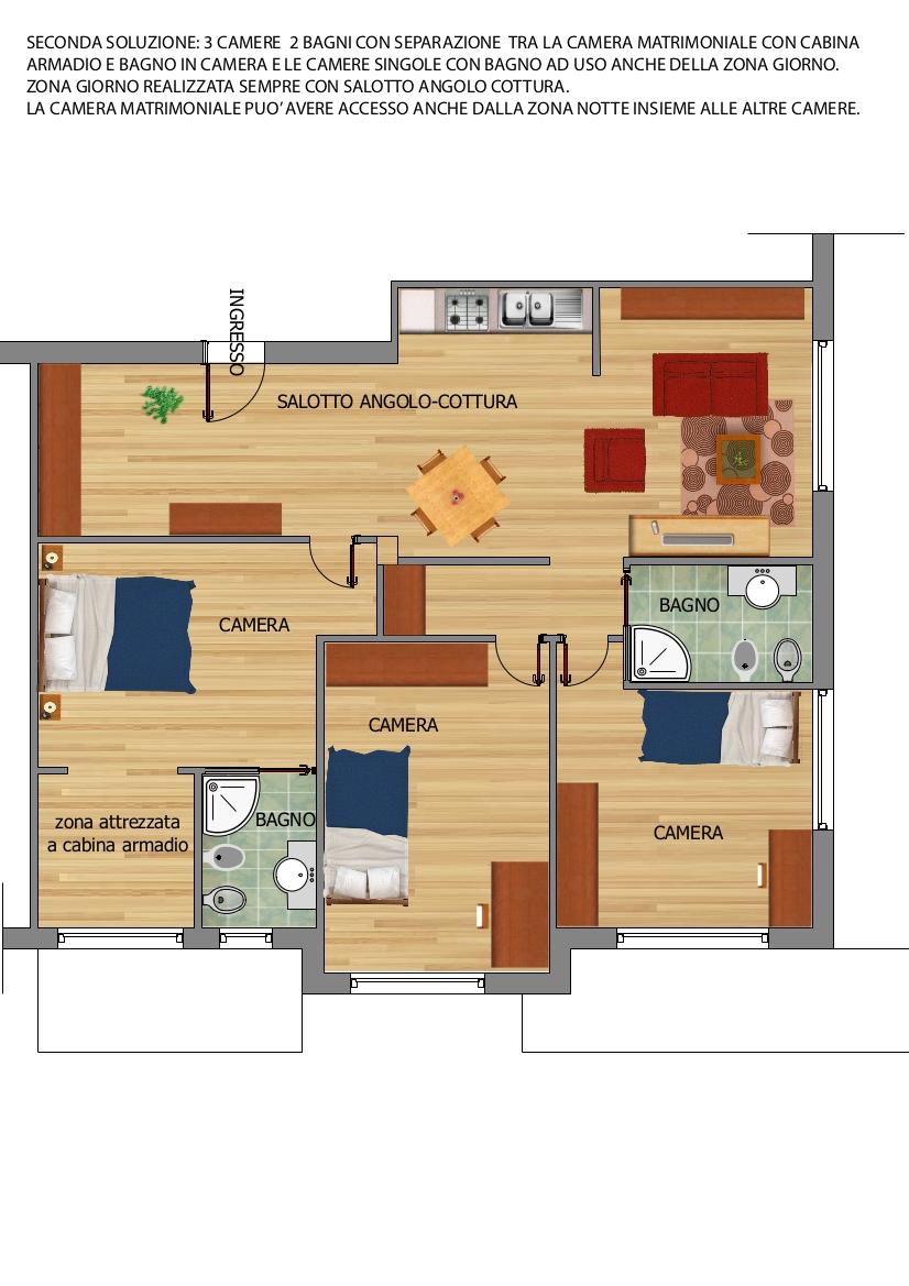 Progetto appartamento a roma - Progetto casa roma ...